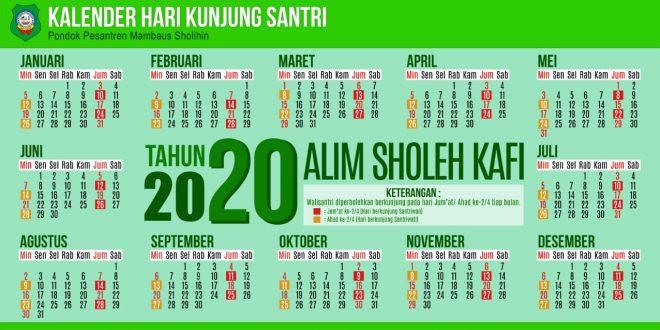 Kalender Hari Kunjung Santri 2020